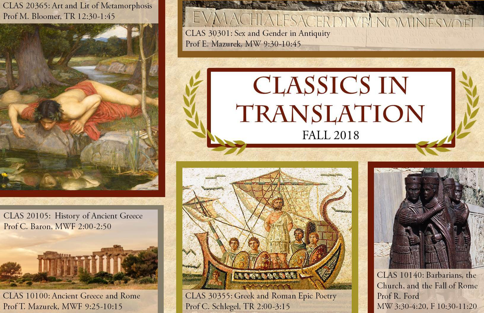 Fall 2018 Classics In Translation